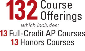 132 course offerings